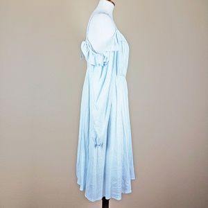 fc8e3abab61 torrid Dresses - Torrid Striped Cold Shoulder Challis Dress NWT